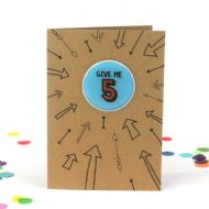 Bettie Confetti 'Give Me 5' Card